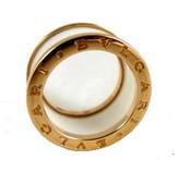 Bulgari excellent (EX Bvlgari Evlgari 18K Rose Gold & Ceramic Ring Size 54