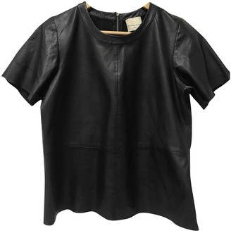Laurence Dolige Black Leather Top for Women