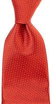 Roundtree & Yorke Trademark Pin Dot Diamond Traditional Silk Tie