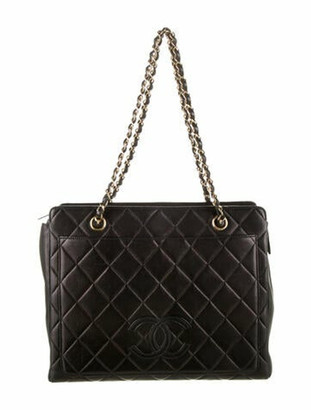 Chanel CC Quilted Chain Tote Black