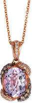 LeVian Le Vian Pink Amethyst (2-1/5 ct. t.w.) and Diamond (3/8 ct. t.w.) Pendant Necklace in 14k Rose Gold
