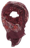 Charlotte Russe Floral Paisley Oblong Scarf