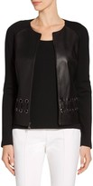 St. John Nappa Leather Jacket