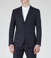 Reiss Reiss Pose B - Textured Wool Blazer In Blue