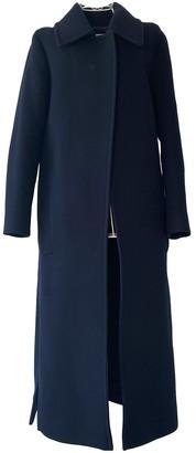 Victoria Beckham Navy Wool Coat for Women