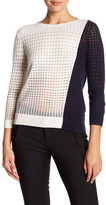 Magaschoni Colorblock Silk Blend Pullover Sweater