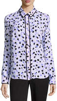 Liz Claiborne Long Sleeve Dots Button-Front Shirt