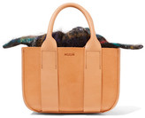 Muun Gilbert Mini Leather And Tartan Tote - Beige
