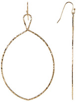 Cara Accessories Hammered Oval Dangle Earrings