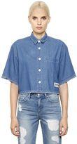 SteveJ & YoniP Steve J & Yoni P Cropped Cotton Denim Shirt