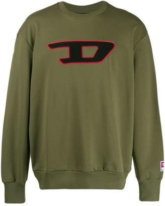 Diesel fleece sweatshirt with patches