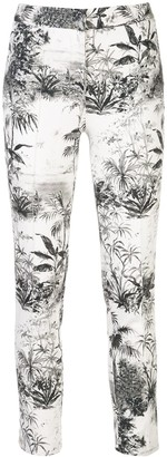 Adam Lippes Palm Print Trousers