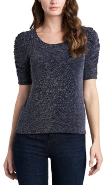 MSK Petite Caterpillar-Sleeve Sparkle Knit Top