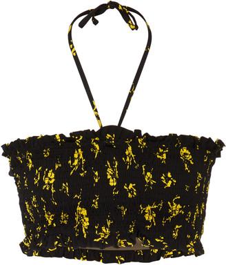 Ganni Recycled Fabric Swimwear Bikini Top