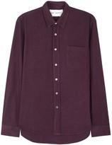 Our Legacy Purple Raw Silk Shirt