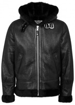Schott Nyc Black Shearling-lined Leather Jacket