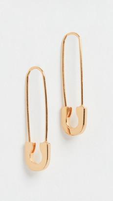 BaubleBar Spillo Vermeil Safety Pin Earrings