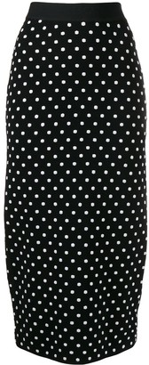 Escada Sport Polka-Dot Pencil Skirt