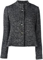 Douuod herringbone cropped jacket