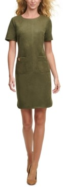 Tommy Hilfiger Faux-Suede Pocket Dress