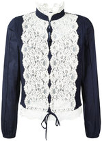 See by Chloe embroidered blouse - women - Cotton/Viscose/Wool - 40