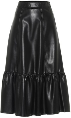 Philosophy di Lorenzo Serafini Faux leather midi skirt