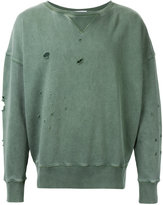 Faith Connexion distressed crew neck sweatshirt - men - Cotton - XS