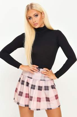 I SAW IT FIRST Brown Pleated Skater Skirt