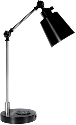 Springdale By Dale Tiffany Springdale 23In Empire Multi-Direction Desk Lamp With Wireless And Usb Charger