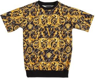 Versace Baroque Print Cotton Sweat Dress