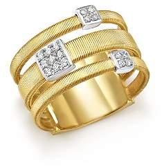 Marco Bicego 18K White and Yellow Gold Masai Three Row Pavé Diamond Ring