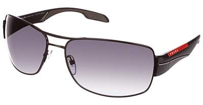 Prada Linea Rossa PS53NS Sport Polarised Sunglasses, Black