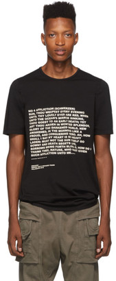 Rick Owens Black Printed Level T-Shirt