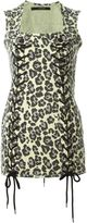 Sibling leopard print mini dress - women - Cotton - M