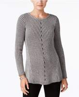 Style&Co. Style & Co Multi-Directional Ribbed Sweater, Created for Macy's