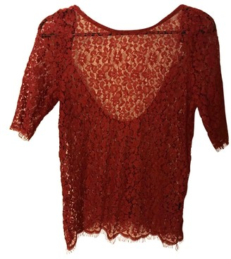 BA&SH Bash Red Lace Top for Women