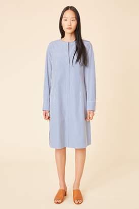 Mansur Gavriel Cotton Stripe Tunic Dress - Blu/White