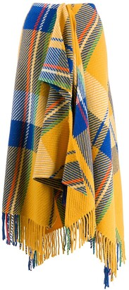 Mira Mikati Checked Scarf-Style Skirt