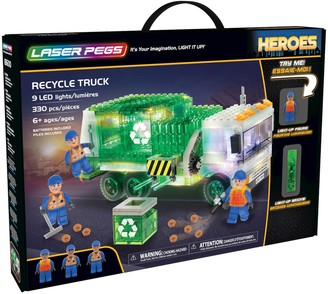Laser Pegs Recycle Truck Light Up Building Kit (330 pieces)