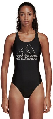 adidas Logo Print Pool Swimsuit