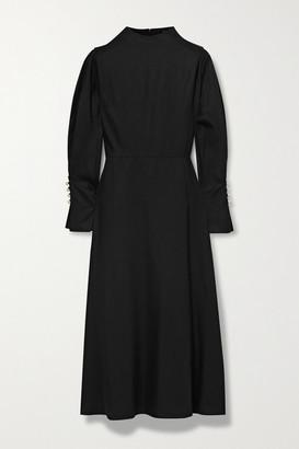 Mother of Pearl Net Sustain Michelle Tencel Lyocell Midi Dress - Black