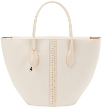 Alaia Latifa Small Canvas Tote Bag