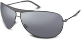Giorgio Armani Signature Top Bar Metal Aviator Sunglasses