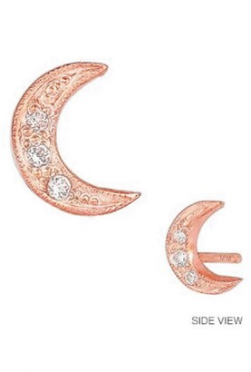 Mini Mini Jewels Diamond Icon Crescent Moon Earring