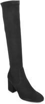 275 Central - 2638 - Suede Knee High Block Heel Boot
