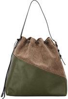 Marni WOMEN'S DRAWCORD SHOULDER BAG-DARK GREEN