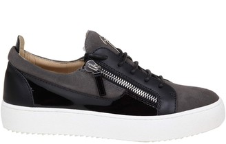 Giuseppe Zanotti May Sneakers In Suede And Stone Color Leather