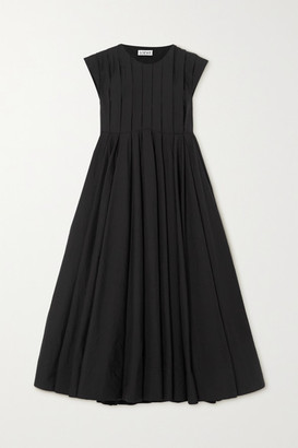 Loewe Pleated Cotton-blend Dress - Black