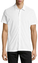 Theory Aden S. Air Piqué Short-Sleeve Shirt