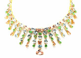Tresor Collection - 18K Yellow Gold Necklace with Multicolor Sapphire and Diamonds